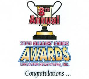 2008 readers' choice awards logo