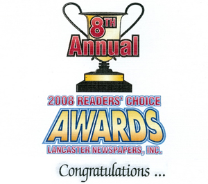 2008 readers' choice awards logo