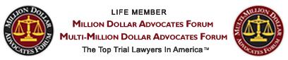 life member million dollar advocates forum and multi-million dollar advocates forum logos