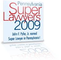 pa super lawyers 2009 award