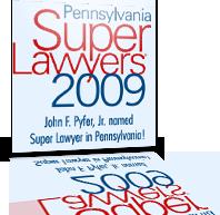 pa super lawyers 2009 award