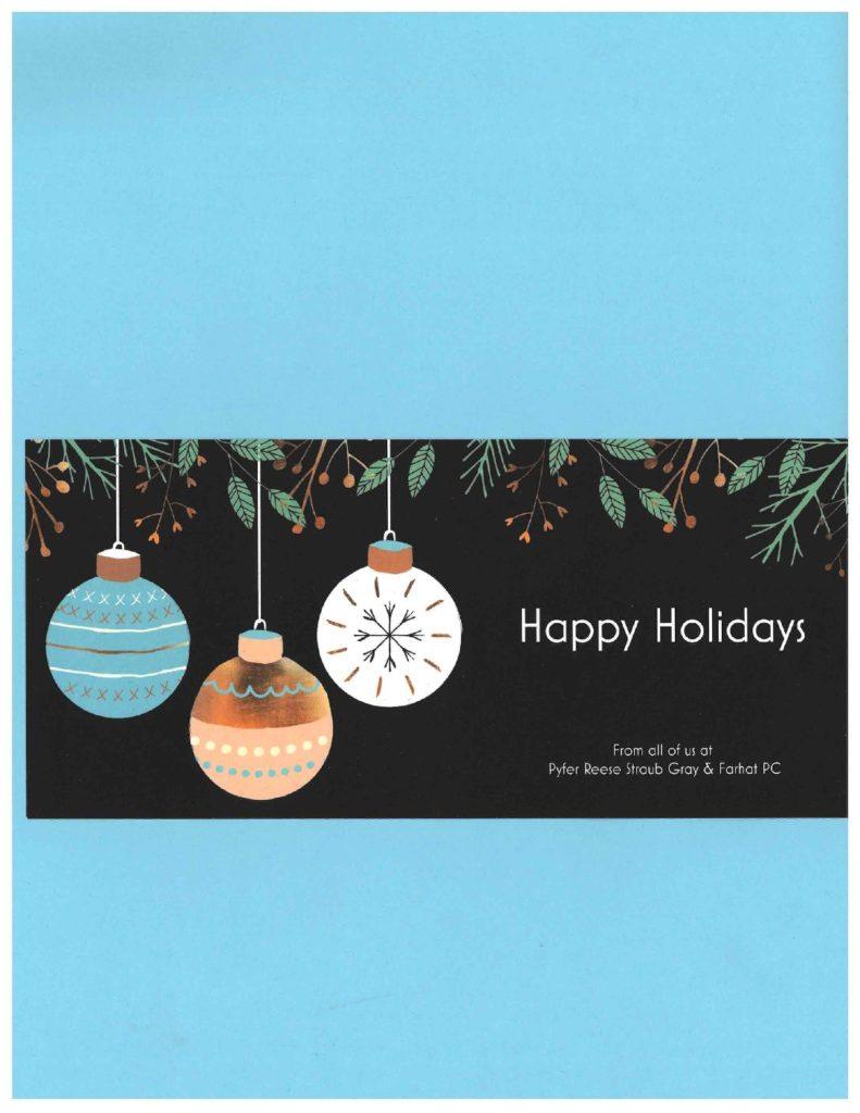 pyfer reese happy holidays card