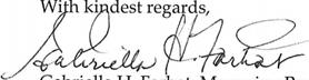 Gabriella Farhat signature capture